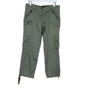New York & Company Olive Green Tie Hem Cargo Pants